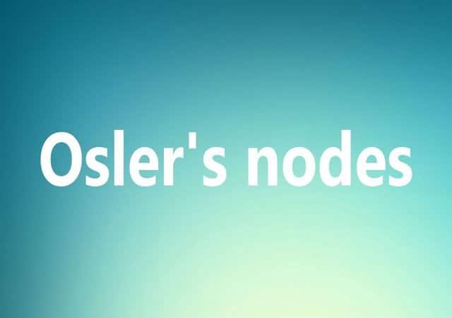 osler nodes